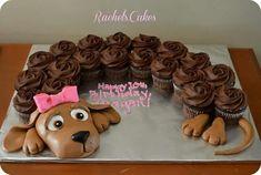 Dachshund cupcake cake