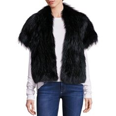 La Bete Silver Fox Fur Jacket ($1,498) ❤ liked on Polyvore featuring outerwear, jackets, apparel & accessories, emerald, silver fox fur jacket, silver jacket, two tone jacket, stand up collar jacket and fox fur jacket