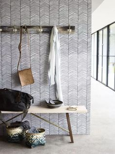 Wallpaper for William's room? Ferm Living Herringbone.