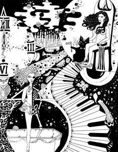 Микс иллюстраций к «Мастеру и Маргарите»
