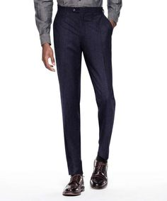 Todd Snyder Sutton Suit Pant In Italian Navy Pinstripe Wool $300
