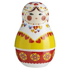 Russian Doll Hearts Salt and Pepper Shaker