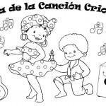"""Día de la canción criolla """"colorear"""" Perú"""