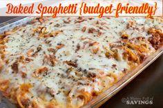 Baked+Spaghetti+{budget-friendly+recipe}+-+A+Mitten+Full+of+Savings