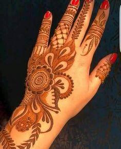 New Mehndi Designs Modern Henna Designs, Khafif Mehndi Design, Floral Henna Designs, Simple Arabic Mehndi Designs, Henna Art Designs, Mehndi Designs For Girls, Mehndi Designs For Beginners, Dulhan Mehndi Designs, Mehndi Design Photos