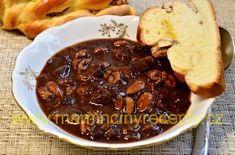Švestková vánoční omáčka – Maminčiny recepty Chili, Soup, Beef, Meat, Chile, Soups, Chilis, Steak