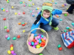 How long does it take to collect more than 100,000 Easter eggs?