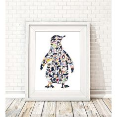 One Penguin, but can you also spot... 53 penguins, 11 letter 'P's, 14 fish, 10 eggs, 5 penguin chicks, 1 pineapple, 1 platypus, 1 parrot, 4 hats, a pig, a panda and a melting ice cream....