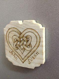 Celtic Wooden Heart