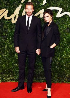 #Football star couple #DavidBeckham and his wife #VictoriaBeckham.