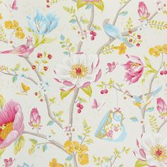 Discover the Pip Studio Chinese Garden Wallpaper - 341000 White at Amara