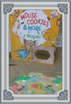 Storybook themed twin's baby shower - Give a Mouse a Cookie iced sugar cookies.