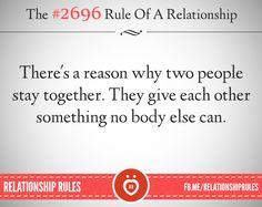 Er is een reden waarom twee mensen samenblijven....