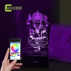 Find More Night Lights Information about Ganesha 3D LED Desk Light luz De Escritorio Table Lamp Fairy  Mission Led RGB Tafellamp Lampade Da Tavolo for Christmas Decor,High Quality light led camera,China light bulb t shirt Suppliers, Cheap light up led from BORSCHE (HK) Electronic Co.,Ltd.  on Aliexpress.com