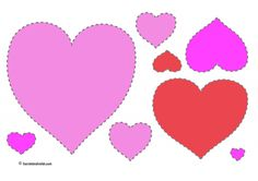 Valentine Hearts to cut out and order in size - pink - Free Teaching Resources - Print Play Learn Cutting Activities, Eyfs Activities, Preschool Activities, Valentines For Kids, Valentine Hearts, Book Area, Display Lettering, Valentine Activities, Book Corners