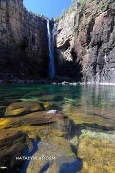 Jim Jim falls Kakadou National Park. Northern Territory, Australia