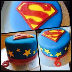 Superman cake! Chocolate cake and fondant. Happy 6th birthday Liam.