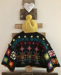 """Carole-Ann Klar on Instagram: """"Just finished a wee colourful beauty❤️ this Doris Mixture Cardigan inspired by all things Icelandic. The wool is léttlopi and Einrúm, the…"""" Crochet Granny, Dory, All Things, Scandinavian, Winter Hats, It Is Finished, Photo And Video, Inspired, Inspiration"""