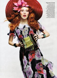 America the Beautiful I US Vogue I June 2011 I Photographer: Craig McDean I Model: Karen Elson I Editor: Tabitha Simmons.