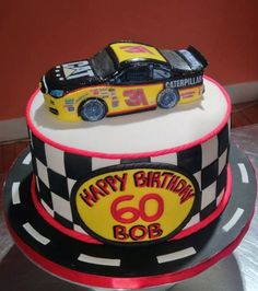 Lets go to the races! Nascar birthday cake for a lucky guy!