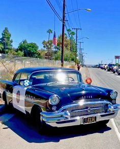 Police Vehicles, Emergency Vehicles, Police Cars, American Classic Cars, Old Classic Cars, Vintage Cars, Antique Cars, 50s Cars, Buick Cars