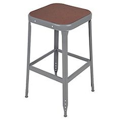 68 Linon Black Square Metal Counter Stool 16w X 16d X