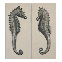 Uttermost Seahorses Wall Art S/2