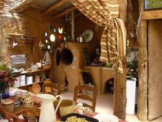 Cobb House Building - Custom cob kitchen by Bioarquitectura y Arquitectura Bioclimatica