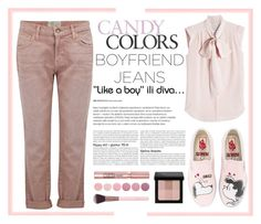 """Boyfriend Jeans... in pink! 🎀"" by anninad ❤ liked on Polyvore featuring Current/Elliott, MaxMara, Vans, L'Oréal Paris, Bobbi Brown Cosmetics, Luxie and Deborah Lippmann"