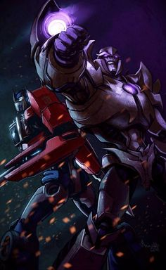 TFP Optimus Prime and Megatron.  They are so cool when they battle together and not against each other!