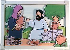 John 4:1-26: Jesus Met a Samaritan Woman; Woman at the Well Craft (3D Picture)