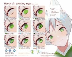 Eye Drawing Tutorials, Digital Painting Tutorials, Digital Art Tutorial, Art Tutorials, How To Draw Anime Eyes, Pelo Anime, Learn To Sketch, Concept Art Tutorial, Coloring Tutorial