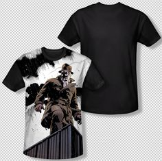b5748e04c4d New Watchmen Rorschach Stormy Night Photo All Over Front Sublimation T-shirt  Top Mens Sizes  S