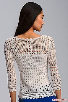 Обалденный пуловер с Осинки - Все в ажуре... (вязание крючком) - Страна Мам