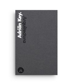 Duplex business card with thermographic ink and silver foil detail designed by Face Creative for MX architecture firm and architect Adrián Key.