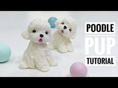 This time Patricia Santoro will show you how to make a mini poodle pup using cold porcelain clay. Polymer Clay Ornaments, Polymer Clay Christmas, Polymer Clay Canes, Polymer Clay Miniatures, Polymer Clay Disney, Cute Polymer Clay, Cute Clay, Handmade Polymer Clay, Cold Porcelain Tutorial