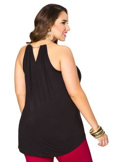 Chainlink Halter Tank - Ashley Stewart