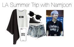 """LA Summer Trip with Namjoon"" by kookiechu ❤ liked on Polyvore featuring Chicnova Fashion, H&M and Converse"