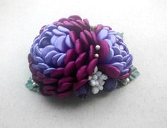 This flower is made of satin ribbons. Also perfect for Holiday Gifts, Birthdays, Church, Weddings, Flower Girls, or Family Pictures. 100% handmade