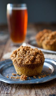 #Pumpkin Ale #Muffins with Graham Cracker Streusel Topping