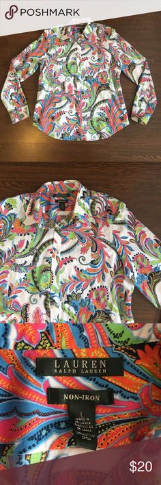 Ralph Lauren Long Sleeve Button Down Women's Large Ralph Lauren Long Sleeve Button Down. Women's Large. Lightly Worn. In Great Pre Owned Condition. Ralph Lauren Tops Button Down Shirts