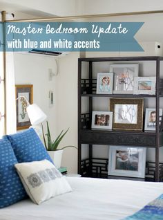Master Bedroom Update in Blue and White - Up to Date Interiors