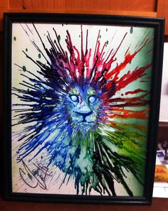 Lion crayonvas. I want to make this for V.O Art Prize for next year!