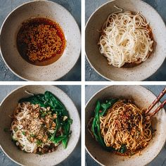 A dan dan noodles recipe that stays true to the authentic Sichuan flavor, with slight moderations for you to enjoy it even if you can't handle spicy food. Asian Noodle Recipes, Spicy Recipes, Asian Recipes, Cooking Recipes, Ethnic Recipes, Savoury Recipes, Chinese Recipes, Chinese Food, Dan Dan Noodles Recipe