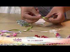 Vida Melhor - Artesanato: Marca-página em forma de vestido (Valéria Ferreira Benz) - YouTube