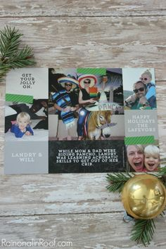 Our (Humorous) Christmas Cards from @rainonatinroof #peartreegreetings