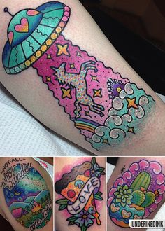 Love the ufo to go with the rocket! 90s Tattoos, Makeup Tattoos, Body Art Tattoos, Sleeve Tattoos, Pretty Tattoos, Unique Tattoos, Cool Tattoos, Soft Grunge, Barbie Tattoo