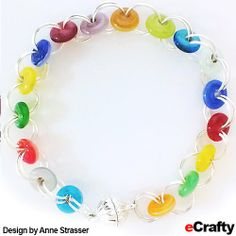 DIY Rainbow Glass Chain Maille Bracelet Recipe from eCrafty.com | DIY Jewelry & Crafts from eCrafty.com #ecrafty #diybracelet #diygifts #diychristmas #chainmaille www.eCrafty.com