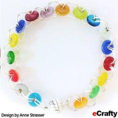 DIY Rainbow Glass Chain Maille Bracelet Recipe from eCrafty.com | DIY Jewelry & Crafts from eCrafty.com #ecrafty #diybracelet #diygifts #diychristmas #chainmaille www.eCrafty.com