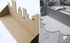 Cardboard shelf. - This actually gave me an idea for a silhouette lamp!